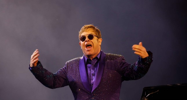 This file photo taken on May 26, 2016 shows British singer and musician Sir Elton John performing at Yarkon park in the Israeli coastal city of Tel Aviv. (AFP Photo)