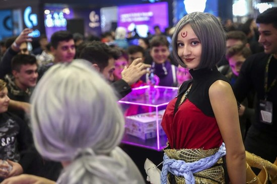 Cosplay activities and the mobile gaming area have proven popular at GIST 2020. (AA Photo)