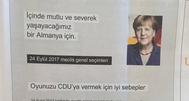 CDU mit türkischer Wahlanzeige auf Stimmenfang bei Deutschtürken