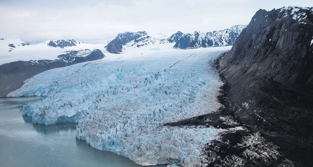 A view of the Blomstrand Glacier, Norway.