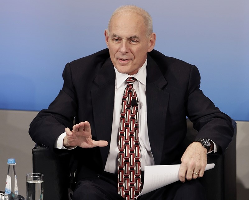 US Secretary of Homeland Security John Kelly speaks during the Munich Security Conference in Munich, Germany, Saturday, Feb. 18, 2017. (AP Photo)