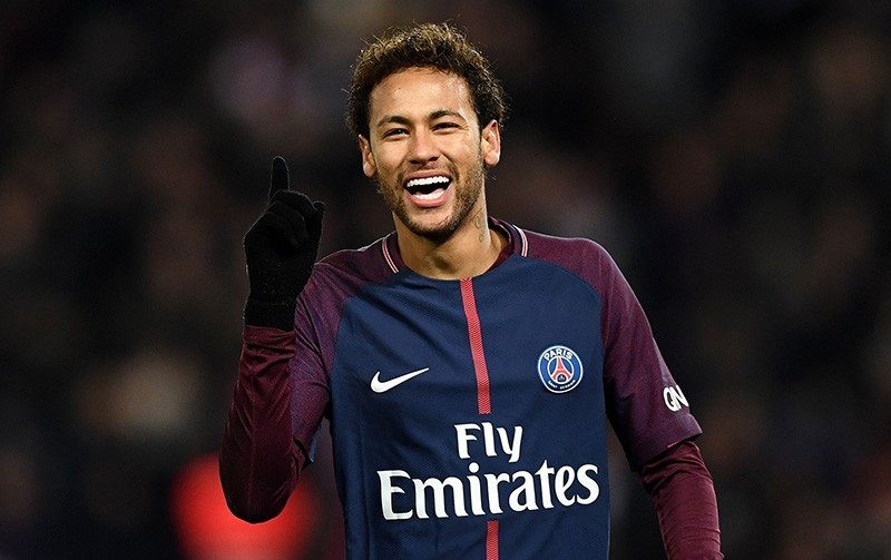 In this file photo taken on January 27, 2018 Paris Saint-Germain's Brazilian forward Neymar reacts during the French L1 football match between Paris Saint-Germain (PSG) and Montpellier (MHSC) at the Parc des Princes stadium in Paris. (AFP Photo)