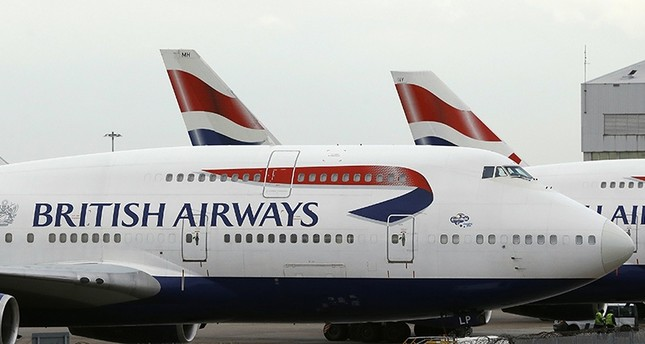 In this Tuesday, Jan. 10, 2017 file photo, British Airways planes are parked at Heathrow Airport during a 48hr cabin crew strike in London. (AP Photo)