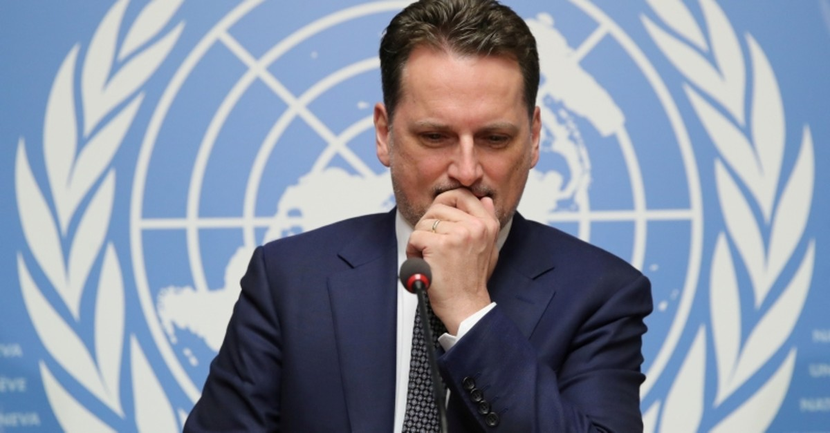 Pierre Krahenbuhl, Commissioner-General of the United Nations Relief and Works Agency for Palestine Refugees in the Near East (UNRWA), attends a news conference in Geneva, Switzerland January 29, (Reuters Photo)