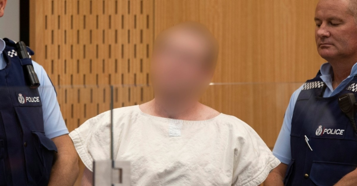 Brenton Tarrant, the man charged in relation to the Christchurch terror attack, appears in a district court in Christchurch, New Zealand, March 16, 2019. (Reuters Photo)