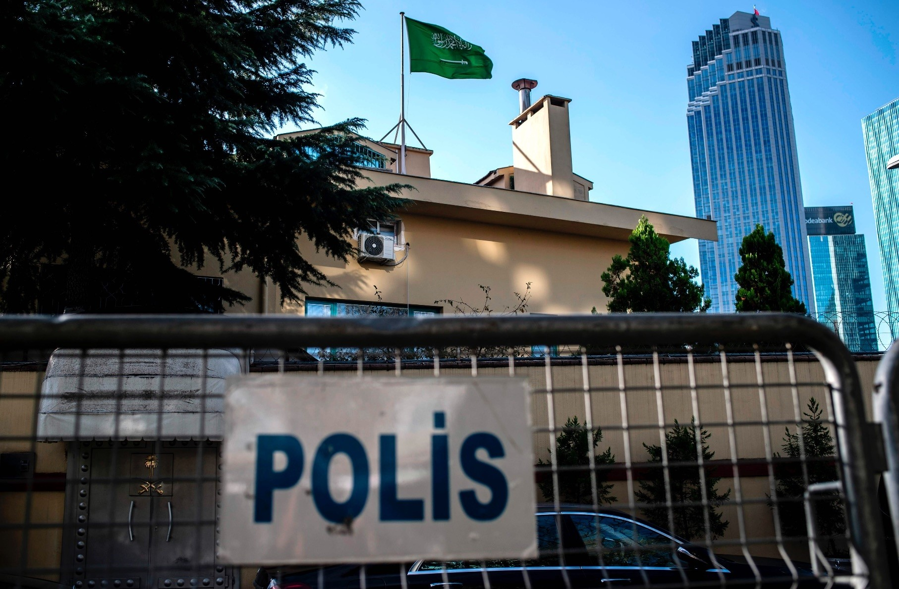 A view of the Saudi Arabian consulate in Istanbul, Oct. 7. Jamal Khashoggi, a veteran Saudi journalist who has been critical of the Saudi kingdom, has gone missing after visiting the kingdom's consulate in Istanbul last week.