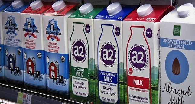 A2 milk is displayed on the shelf at The Fresh Market in Latham, N.Y. (AP Photo)