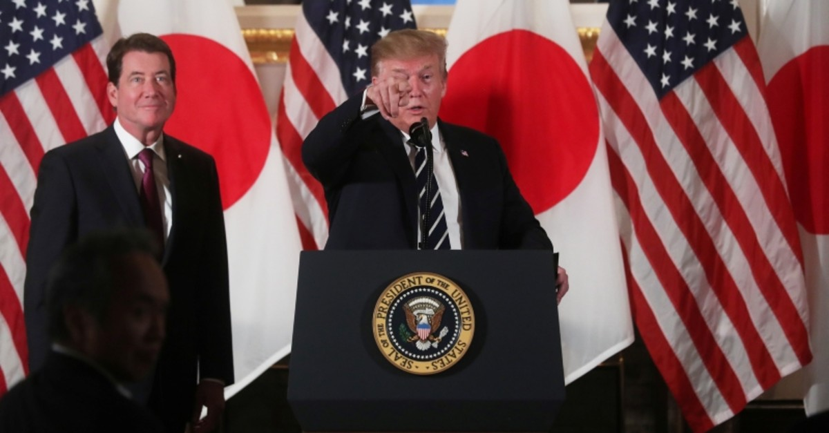 U.S. President Donald Trump attends a Japanese business leaders event in Tokyo, Japan May 25, 2019. (Reuters Photo)