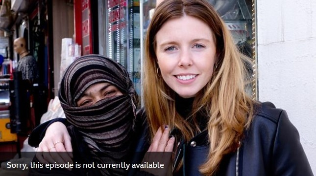 emScreenshot taken from BBC's website shows cover image for Sex in Strange Places series' Turkey episode, showing presenter Stacey Dooley with the woman whom the episode claims is a Syrian refugee./em