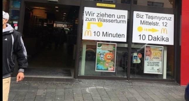 (Ein Foto der McDonald´s Filiale in Mannheim)