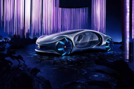 Mercedes Benz's futuristic e-car Vision AVTR was inspired by James Cameron's Avatar.