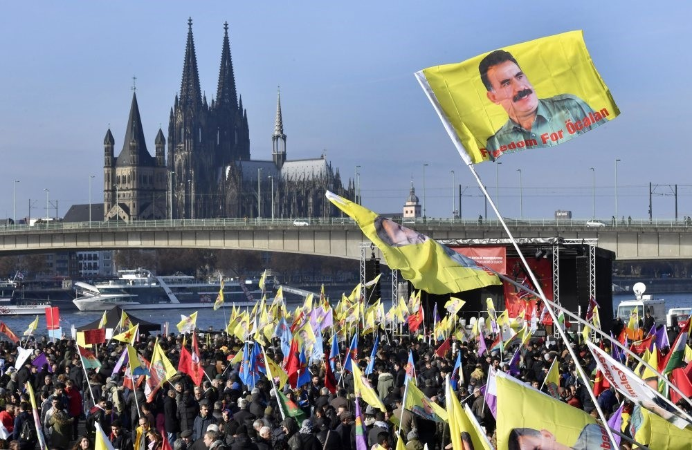 A PKK demonstration in Cologne, Germany, Nov.12, 2016. Although the PKK is recognized as a terrorist organization by the EU, it is free to hold demonstrations across the country.