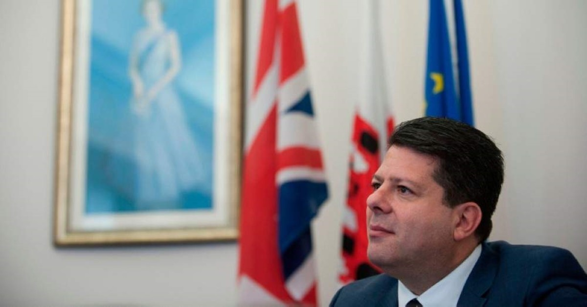 Chief Minister of Gibraltar Fabian Picardo speaks during an interview with AFP in Gibraltar, on January 17, 2020. (AFP Photo)