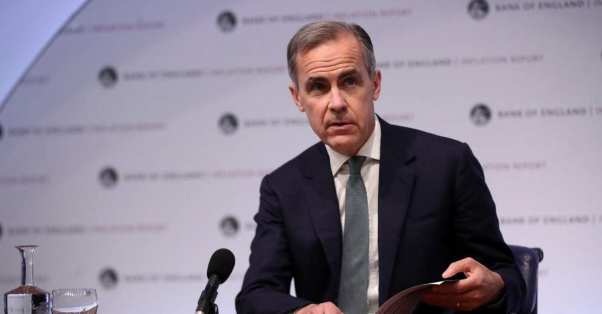The Governor of the Bank of England Mark Carney speaks during a news conference, London, U.K., Feb. 7, 2019. (Reuters Photo)
