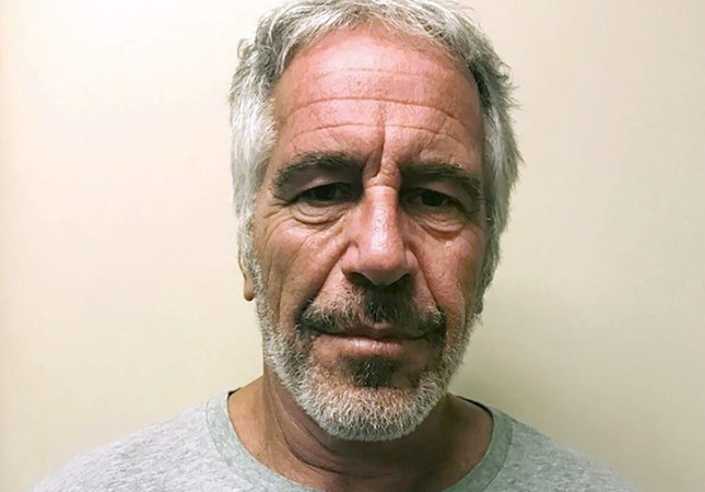 FILE - This March 28, 2017, file photo, provided by the New York State Sex Offender Registry, shows Jeffrey Epstein. Dr. Michael Baden, a pathologist hired by Jeffrey Epstein's brother, says he believes the financier's death at a New York City jail was a murder, not suicide. Baden told Fox News on Tuesday, Oct. 29, 2019, that some injuries found on the 66-year-old Epstein's body are extremely unusual in suicidal hangings and more consistent with homicidal strangulation. (New York State Sex Offender Registry via AP, File)