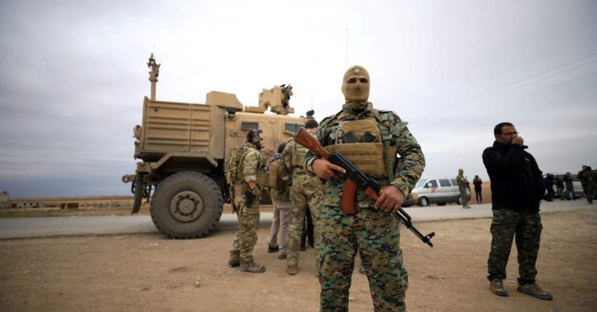 YPG and U.S. troops are seen during a patrol near the Turkish border in Hasakah on Nov. 3, 2018. (Reuters File Photo)