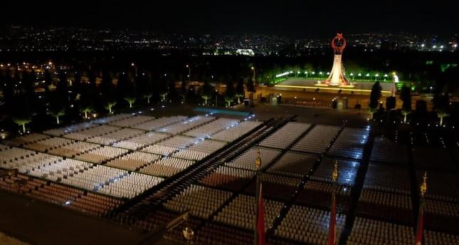 تحضيرات حفل تنصيب أردوغان في القصر الرئاسي (تويتر)