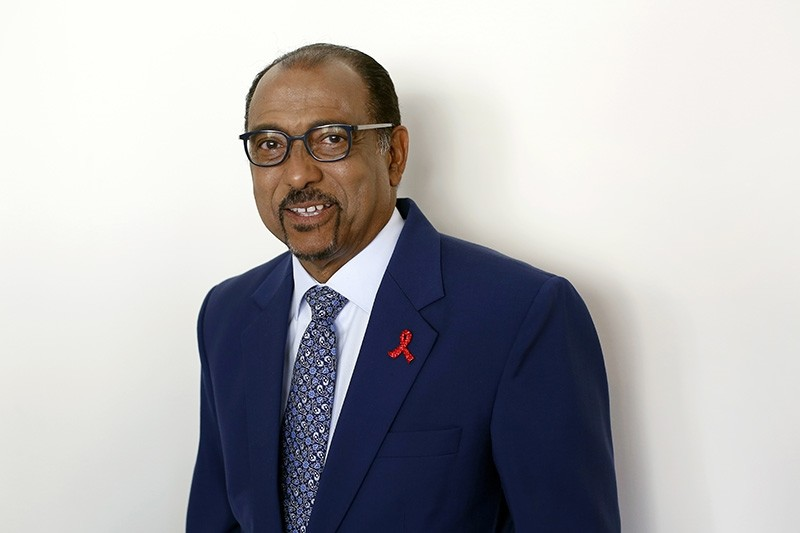 In this July 18, 2018 file photo embattled UNAIDS chief Michel Sidibe poses for photographers before attending a press conference, in Paris, France. (AP Photo)