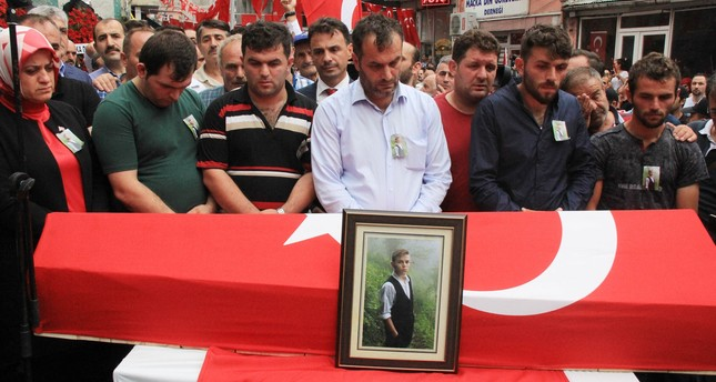15-year-old Eren Bülbül was killed during terrorist PKK attack in Turkey's northeastern Trabzon province on Friday. (DHA Photo)