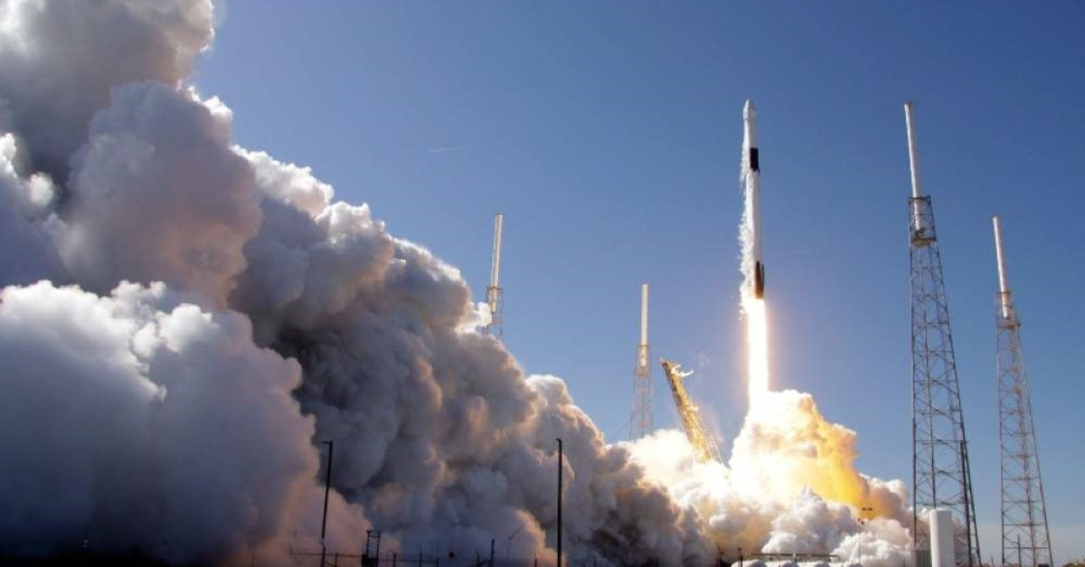 A Falcon 9 SpaceX rocket on a resupply mission to the International Space Station lifts off in Cape Canaveral, Fla., Thursday, Dec. 5, 2019. (AP Photo)