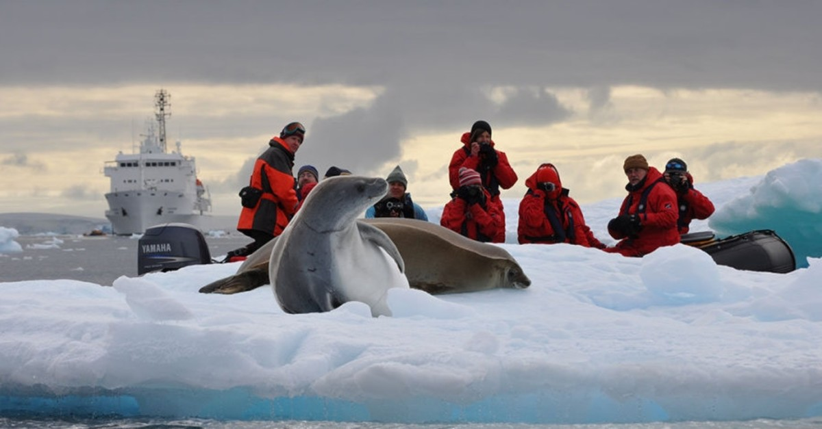 Turkish scientists explore the continent during a science expedition to Antarctica.