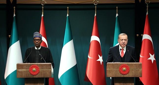 President Erdoğan receives Nigerian counterpart Buhari