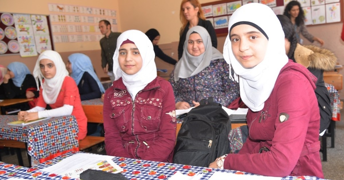 Syrian children are provided multidimensional education programs in Turkish schools, Adana, March 20, 2019.