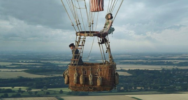 Eddie Redmayne and Felicity Jones as James Glaisher and Amelia Wren in the balloon. AP Photo