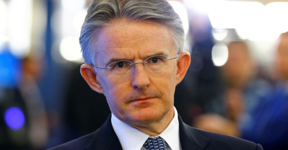 CEO John Flint of HSBC attends the World Economic Forum (WEF) annual meeting in Davos, Switzerland, January 24, 2019. (Reuters Photo)