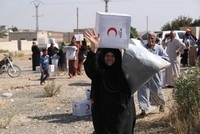 Turkish Red Crescent delivers aid to recently liberated Tal Abyad in Syria