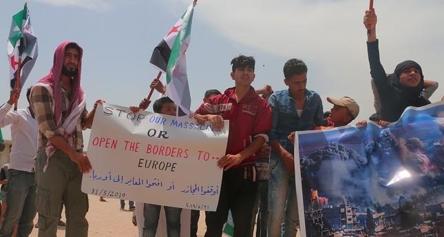 مدنيو إدلب لأوروبا: أوقفوا المجازر أو افتحوا المعابر