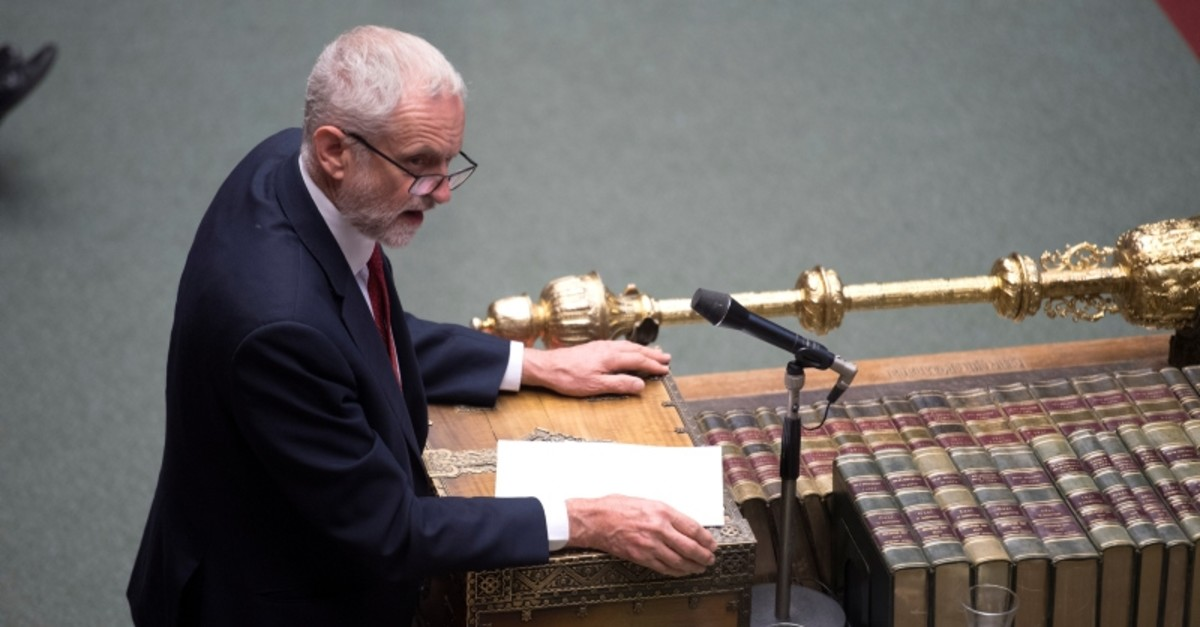Britain's opposition Labour Party leader Jeremy Corbyn speaks in Parliament in London, Britain July 3, 2019. (UK Parliament/Jessica Taylor/Handout via Reuters)