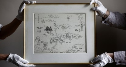 Original Winnie the Pooh map sells for record-breaking $570,000