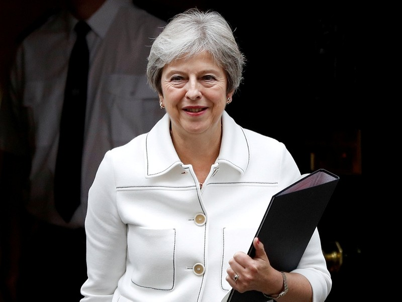 Britain's Prime Minister Theresa May leaves 10 Downing Street in London, Britain, October 15, 2018. (REUTERS Photo)