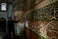 العثور على زخرفات في ضريح مولانا بقونية من عهد بيازيد الثاني