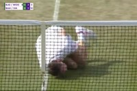 Tennis players at Wimbledon mock Neymar's antics, dives during World Cup
