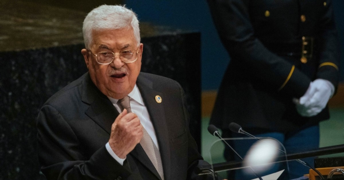 Palestinian President Mahmoud Abbas addresses the United Nations General Assembly at U.N. headquarters Thursday, Sept. 26, 2019.  (AP Photo)