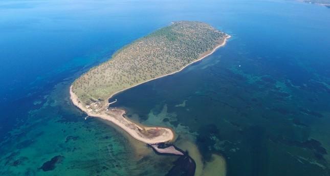 Çiçek Island in Balıkesir province, Turkey. Sabah photo