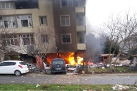Explosion on ground floor of apartment building leaves 3 injured in Istanbul's Büyükçekmece
