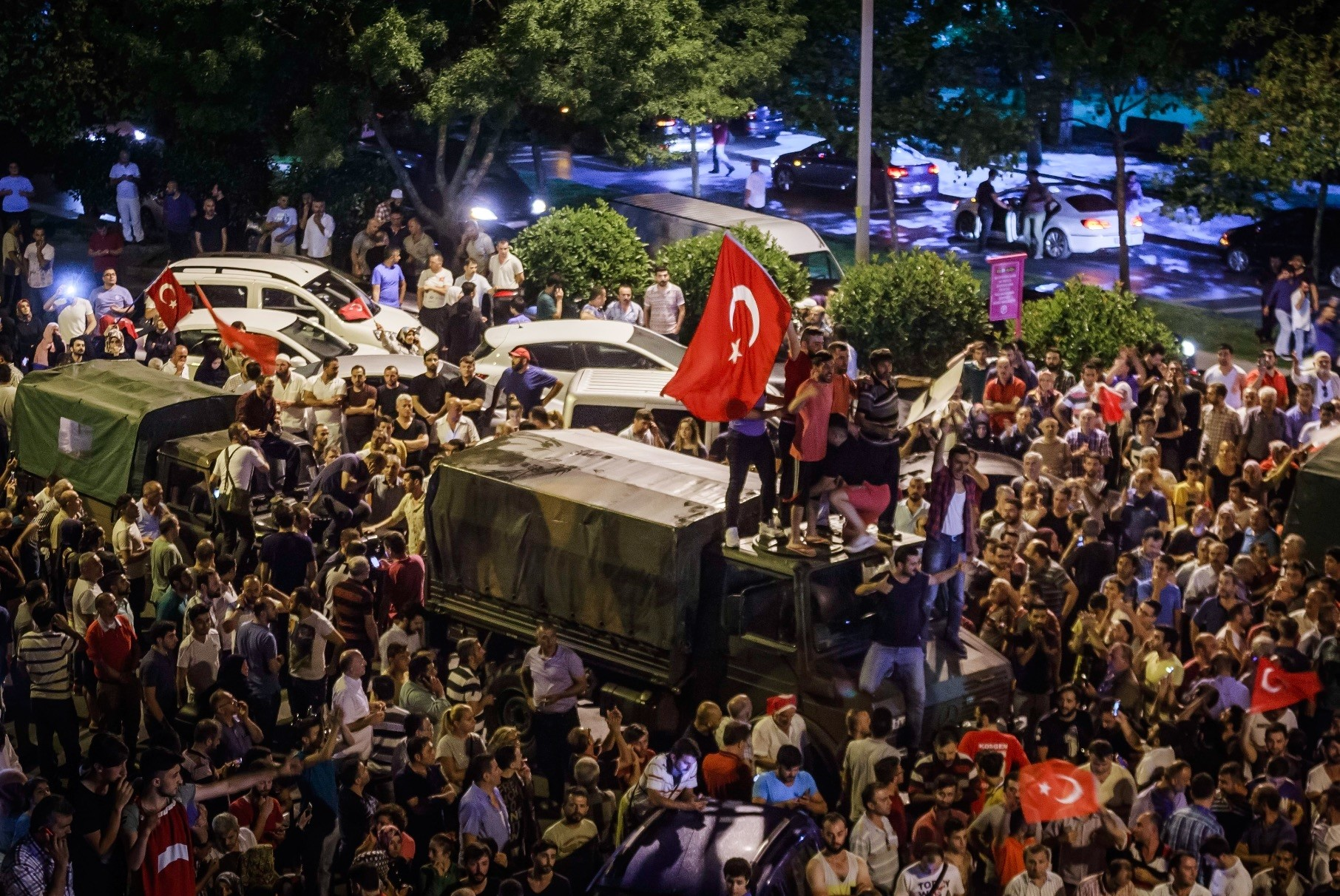 The coup plotters who wanted to take control of the headquarters of the Justice and Development Party (AK Party) in Ankara were repelled by ordinary citizens on the night of the coup attempt on July 15, 2016.