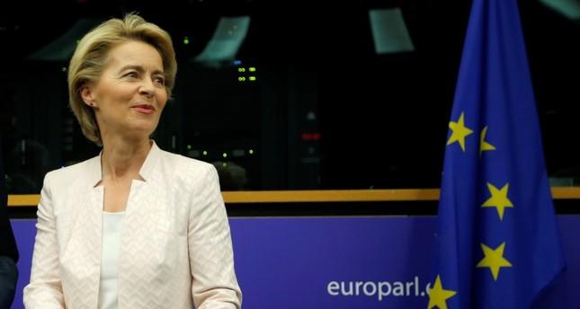German Defense Minister Ursula von der Leyen attends the European People's Party (EPP) meeting, Strasbourg, July 3, 2019.