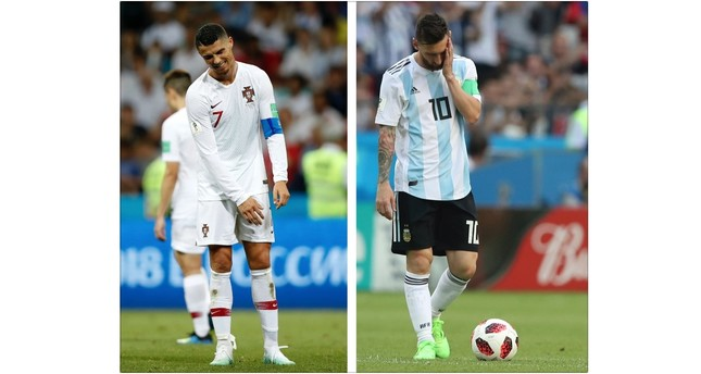 The closest Messi and Ronaldo will come to each other in Russia is the airport departure lounge.
