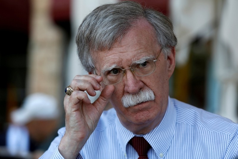 U.S. National Security Advisor John Bolton speaks during an interview with Reuters in Jerusalem  August 21, 2018. (Reuters Photo)