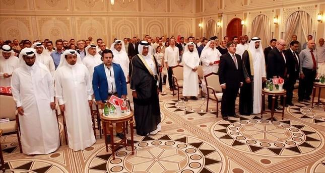 الجالية التركية في قطر تقيم فعالية تضامنية لإدانة محاولة الانقلاب الفاشلة