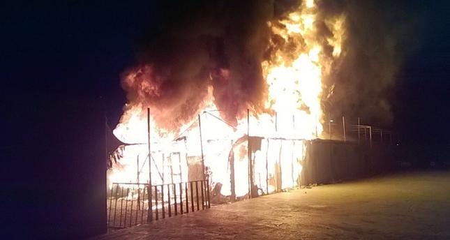 Brand im Flüchtlingslager auf Lesbos