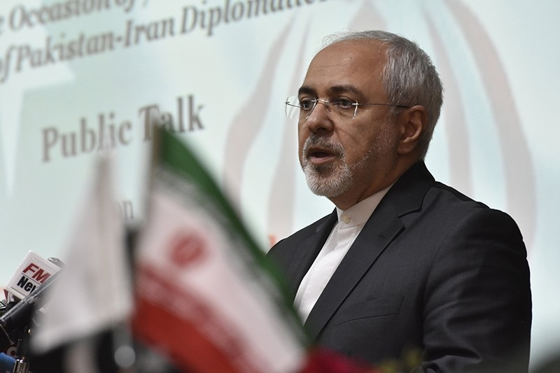Mohammad Javad Zarif (C) Iranian Foreign Minister, attends a ceremony to mark the 70th anniversary of the establishment of relations between Iran and Pakistan, in Islamabad, Pakistan (EPA Photo)