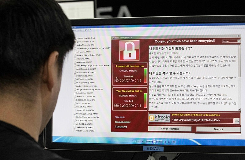 A photo taken on May 15, 2017 shows staff monitoring the spread of ransomware cyber-attacks at the Korea Internet and Security Agency (KISA) in Seoul (AFP Photo)