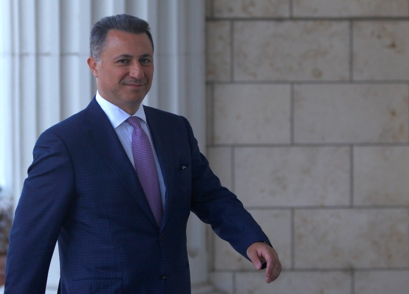 Former Macedonian prime minister Nikola Gruevski enters a court in Skopje, Macedonia, October 5, 2018. (Reuters Photo)