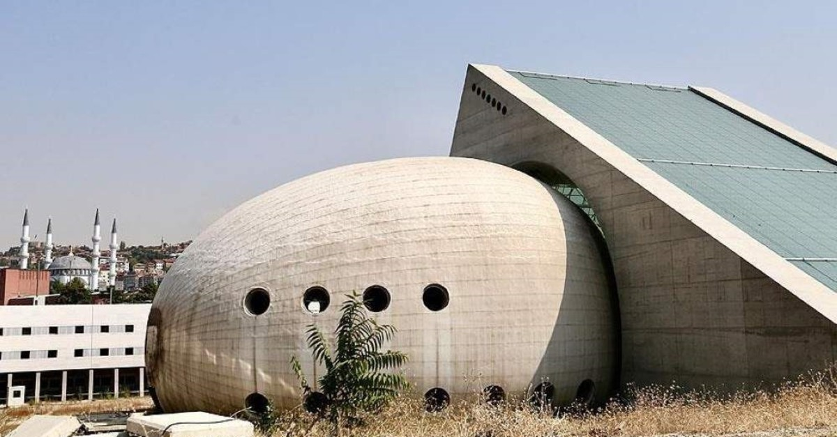The egg-shaped Presidential Symphony Orchestra building boosts acoustics inside the structure. (AA Photo)