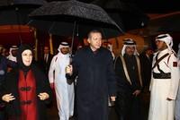 President Erdoğan arrives in Qatar to boost bilateral relations
